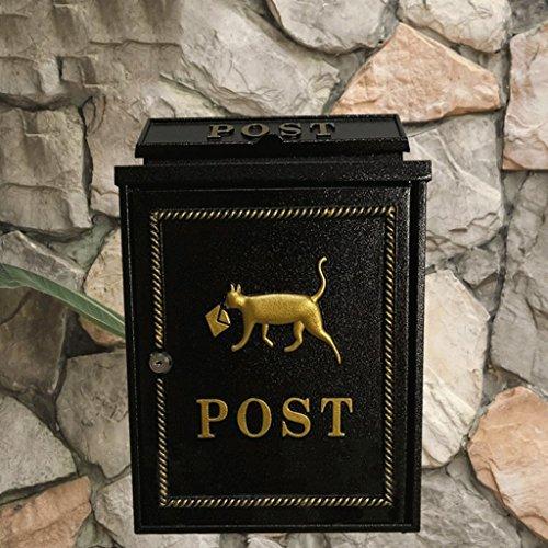 CXQ Kreativer Wand-Briefkasten im Freien europäischer wasserdichter Postbox-Landhaus-Briefkasten ländlich