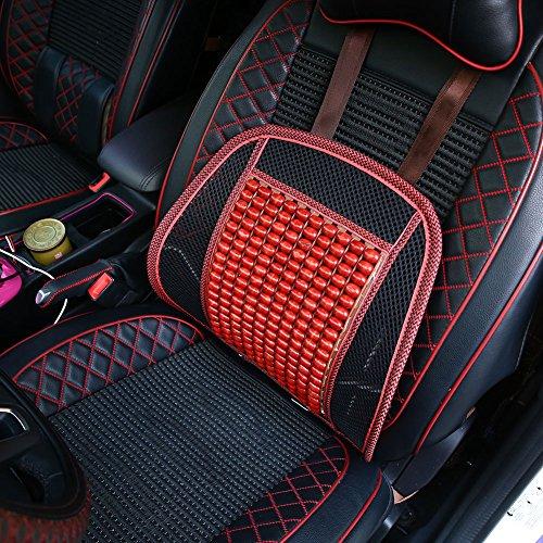 Sedeta® Universal Summer Car Cover taille de soutien Tapis Chaise de bureau Accueil de refroidissement Massage rouge