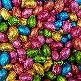 Huevos de Pascua de Chocolate de Leche Sólidos Forrados en Aluminio x 1kg (Aproximadamente 200