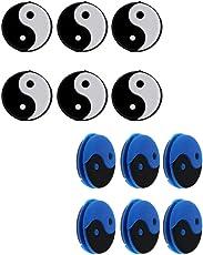 MagiDeal 12 Stück Yin-Yang Tennisschläger Stoßdämpfer Tennis Dämpfer