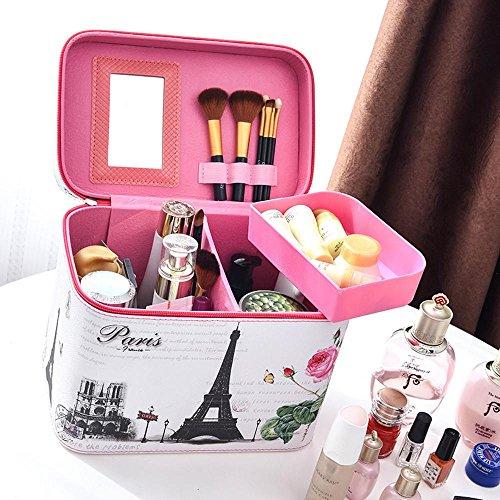 Wmshpeds Kosmetiktasche Druckhandheld-große Kapazität Südkorea nette Karikaturen mit Reise-Box in der Box