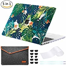 """miger Macbook pro 13""""Caso 2017& 2016, carcasa rígida Carcasa para A1706/A1708 multicolor Palm leaves/Yellow Flowers 13 Inches(Model A1706/A1708)"""