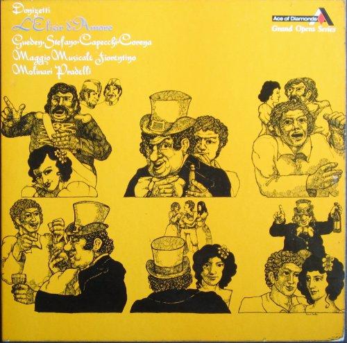 Donizetti: L'ELISIR D'AMORE (Gesamtaufnahme, italienisch: Florenz 1955) [Vinyl Schallplatte] [2 LP Box-Set] -
