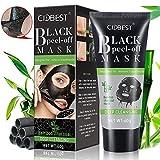 Blackhead Mask Peel Off, Peel Off Mask, rimuove punti, purificante maschera nera, carbone attivo profonda dei pori maschera, aspirazione Face nose Clear acne Blackhead Mask 60g immagine