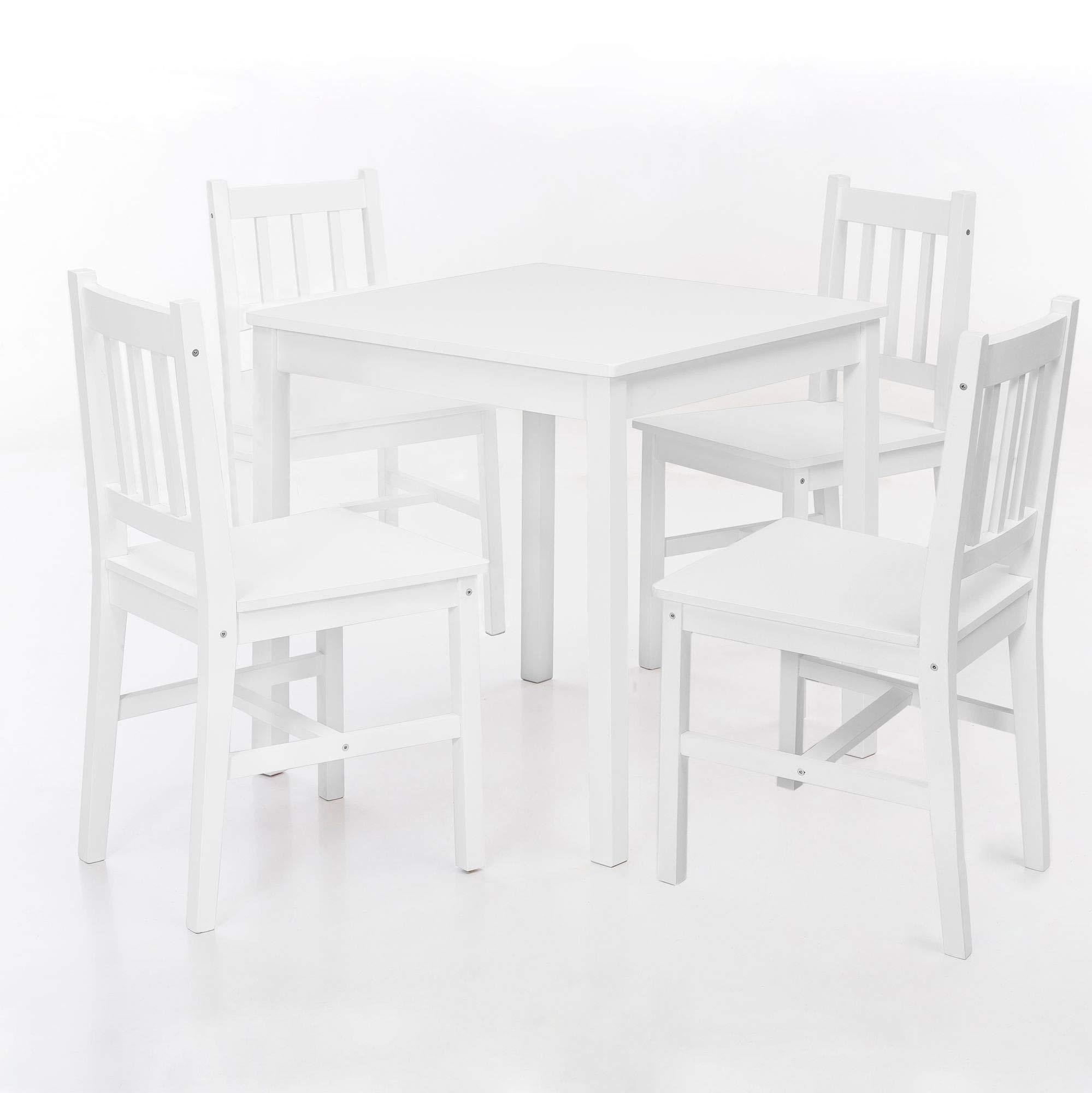 13Casa Fiordaliso B01 Tisch und 4 Stühle, Massivholz, 70 x 70 x 73 cm 1