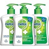 Dettol Original Germ Protection Handwash Liquid Soap Pump, 200ml (Pack of 3)