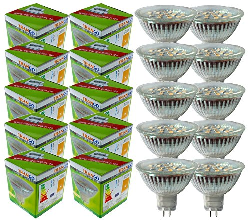 10er Set TGMR16030 3.0 Watt dimmbar MR16 GU5.3 LED Leuchtmittel (10×3.0Watt)