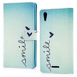 BestCool T3, Sony, Sony Xperia T3/Flip Case/Brieftasche aus PU-Leder, mit Kartenfächern, Handy Schutzhülle Tasche Cover Stand für kleine Love Sony, T3, Tasche