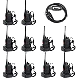 BaoFeng BF-888S UHF 400-470MHz 16CH CTCSS/DCS Hand Held Mobile Amateur 2 Way Radio Walkie Talkie- Long Range (Pack of 10…