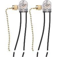 Mobestech 2 Pcs Ventilateur de Plafond Chaîne de Traction 2 Vitesses Interrupteur de Plafond Interrupteur Cordon…