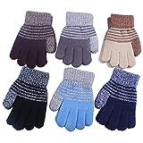 kimmyku 3 Coppie Invernali a maglia per bambini bambino ragazzo 5 6 7 anni