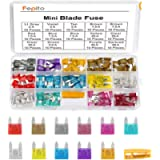 FEPITO 140pcs Mini Car Fuses Assortment Blade Fuse for Auto Car Truck with Storage Case(2A, 3A, 5A, 7.5A, 10A, 15A, 20A…