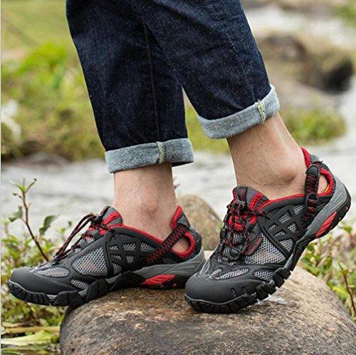 Z&HX sportsScarpe da escursione all'aperto interferenze di velocit¨¤ traspiranti Scarpe da passeggio scarpe da trekking scarpe sportive anti-skid anti-skid Red