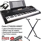 Best Keyboard Workstations - Casio CTK6200-ST Workstation Keyboard + Westmount® Adjustable Quicklock Review