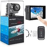 AKASO 4K/60fps Action Kamera V50 Elite 20MP WiFi Action Cam mit Touchscreen EIS 40M Unterwasserkamera mit 8X Zoom Sprachsteuerung Fernbedienung Zubehör Kit Sportkamera