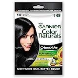 Garnier Color Naturals Creme Riche Sachet, Shade 1, Natural Black, 60