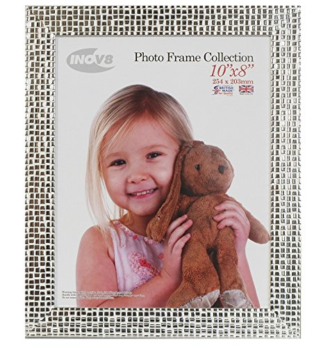 Inov8 10 x 8-Inch British Made Picture/Photo Frame, Mosaic Silver