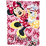 Disney Minnie Mouse Coral Fleece Blanket Winter Bed Throw Girls Snuggle Wrap