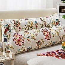 hwf cojines almohada almohada sueo decorado cabecero tapizado cojines doble triangular cama almohada respaldo gran