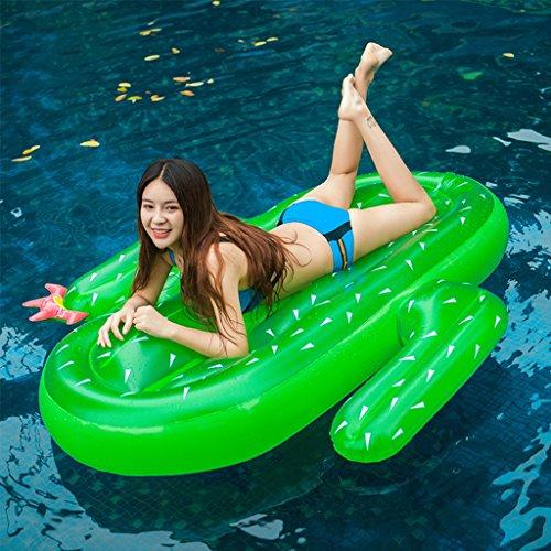Hochwertige Pool Float Schwimmendes Bett Aufblasbarer Kaktus, der sich hin- und herbewegende Reihe, Swimmingpool-Auftrieb aufblasbares Spielzeug-Erwachsener u. Kind-sich hin- und herbewegender Bett-Wasser-Erholungs-Stuhl schwimmt KKY-ENTER