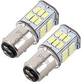 P21/5w Bay15d 1157 Led 12v-24v Ampoule feu de stop, DC10-30V Lumière blanc, pour Moto, RV, Auto Voiture, feux de jours, etc (