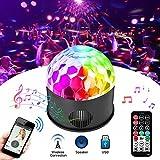LED Discokugel SOLMORE 9 Farbe Disco Licht Disco Lichteffekt kabellos mit Fernbedienung & USB für Kinder Party Geburtstag Karaoke Club Bar