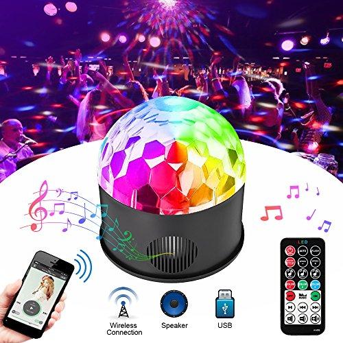 Solmore Discokugel mit Fernbedienung für Musik-Player 9 Farben 5 Modi Licht-Beleuchtung Beleuchtung Beleuchtung Beleuchtung Disco Licht DJ Kugel Magisch Dekoration Hochzeit