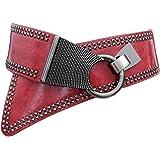 Oyccen Punk Donne Rivetto Cintura Elastica Cinturino in Vita Decorazione del Vestito