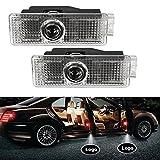 #3: HITSAN 2Pcs 3W 6000K Car Door Welcome Light for BMW Series E60 F10 F15 F30 M3 M5 F01 F02 GT