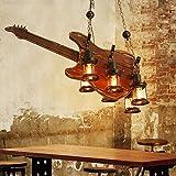SX-BBF Holz Pendelleuchte Retro Industrial Style Pendelleuchte Restaurant Kronleuchter Gitarre Holz Lampen 266