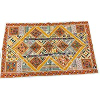 Mogul Interior Banjara Decorative Tapestry Old Sari Patchwork Vintage Wall Hanging