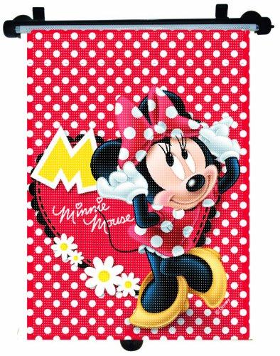 Joy Toy 76110 - Disney Mickey und Minnie, Sonnenschutzrollo für Autoseitenscheibe, Blisterpackung, 35 x 50 cm