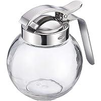 Westmark Distributeur de Crème/Miel, Capacité : 250 ml, Verre/Acier Inoxydable, Roma, Transparent/Argent, 65402260…