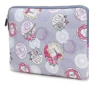 Coodio® ShockProof 33-33.8 cm (13-13.3 inch) Ultrabook Laptop Notebook Pattern Sleeve Bag for Apple Macbook Air 13, Macbook Pro Retina 13, Chromebook 13 - Lake Blue