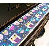 Tastenläufer für Klavier, Tastatur Twitty grau