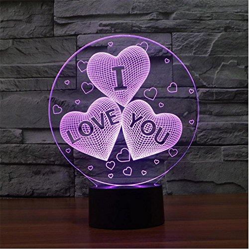 ZHIYUAN Ti amo San Valentino idee regalo regalo personalizzato/luce luce notturna a LED 3D