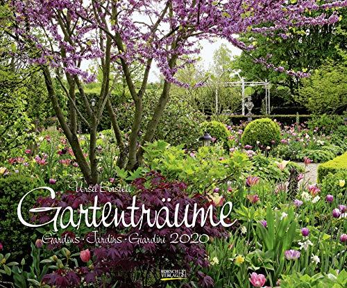 Gartenträume 2020: Großer Wandkalender. Foto-Kunstkalender zum Thema Gärten. PhotoArt Kalender im Querformat. 55 x 45,5 cm