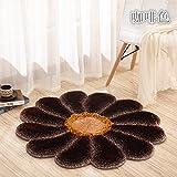 Lx.AZ.Kx Fußmatte Continental minimalistischen modernen Schlafzimmern Einhaltung der Matten Das Wohnzimmer In den Rand des Bett und Matratze Durchmesser 120 Cm, Espresso Braun