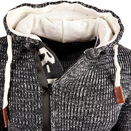 Rusty Neal Winter Strick-Pullover Kapuzenpullover Strickjacke Jacke Anthra.13277 Anthrazit