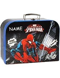 """Kinderkoffer - """" Spider-Man / Ultimate """" - Groß - Puppenkoffer Koffer - Reisekoffer aus Pappe mit Metall Griff - für Kinder Jungen - Spinne / Spinnenman - Spiderman - Aktion Held"""