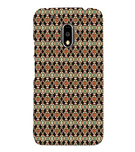Abstact Square Pattern 3D Hard Polycarbonate Designer Back Case Cover for Motorola Moto G4 :: Motorola Moto G (4th Gen)