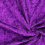 Fabulous Fabrics Pannesamt violett - Weicher SAMT Stoff zum
