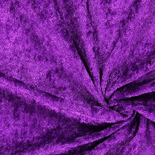 Fabulous Fabrics Pannesamt violett - Weicher SAMT Stoff zum Nähen von Kleider, Oberteile, Tücher und Tischdecke - Pannesamt Dekostoff & Bekleidungsstof- Meterware ab 0,5m