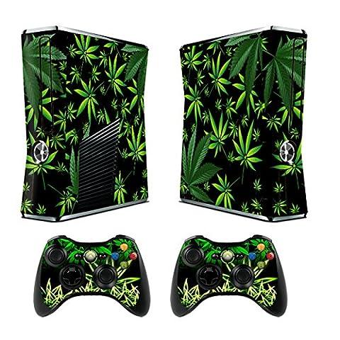Jeux Xbox 360 Peaux Xbox 360 Vinyle Autocollants Console Xbox 360 + Deux Décalcomanies Pour les Dualshock Controleurs - Weeds Black