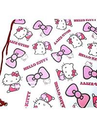 Sanrio 501395 - Bolsa de la compra al hombro, diseño de lazos de Hello Kitty