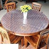 Pvc Weiches glas Runde tischdecke Dining schreibtischunterlagen Wasserdicht Anti-verbrühende isolierte spitze ?l-beweis Kunststoff Kristall-teller Round table pad tischdecke-C Durchmesser90cm(35inch)