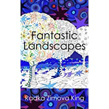 Fantastic Landscapes: Colouring book for adults (English Edition)