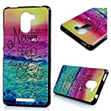 Funda BQ Aquaris U Plus, Lanveni Carcasa TPU Gel Silicona para BQ Aquaris U Plus Suave Flexible ultra delgado Protective Case Cover - Diseño el color del mar