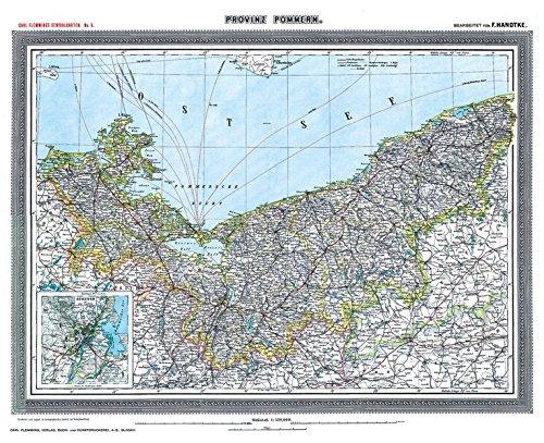 Historische Karte: Provinz POMMERN - um 1903 [gerollt] Carl Flemmings Generalkarte, No. 6