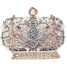 39bef74a0b Borsetta da Sera Donna Pochette Cerimonia Elegante Clutch strass Borsa a  Tracolla Catena per Matrimonio Festa